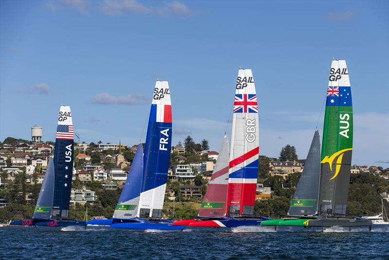 All lined up for the start off Shark Island - photo © Andrea Francolini