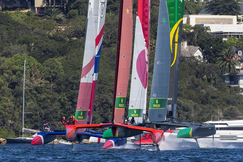 Fleet was certainly close at the start - photo © Andrea Francolini