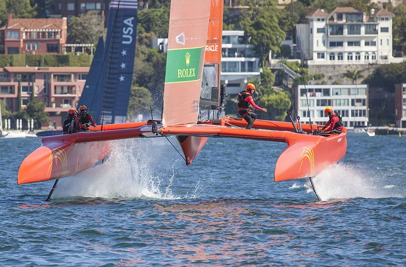 Team China on Day One of the inaugural SailGP on Sydney Harbour - photo © John Curnow