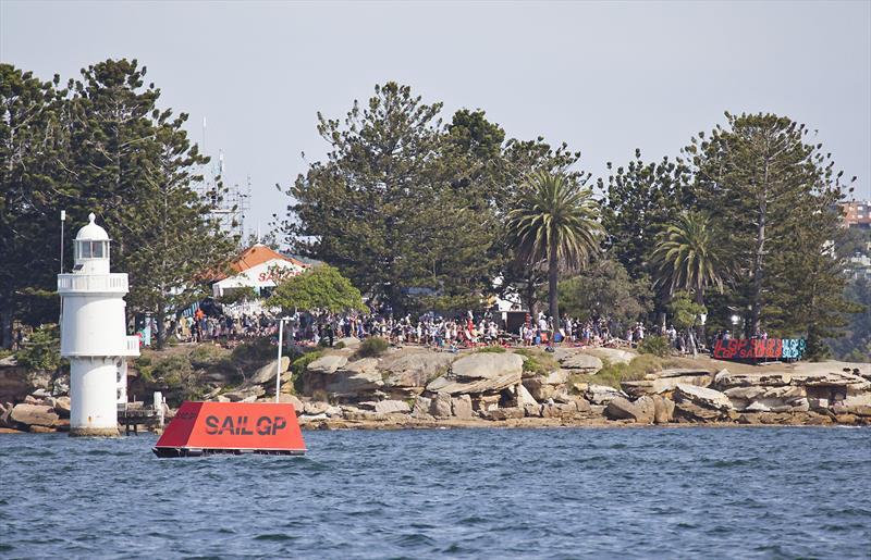 The crowd on Shark Island - both days were a sell out - photo © John Curnow