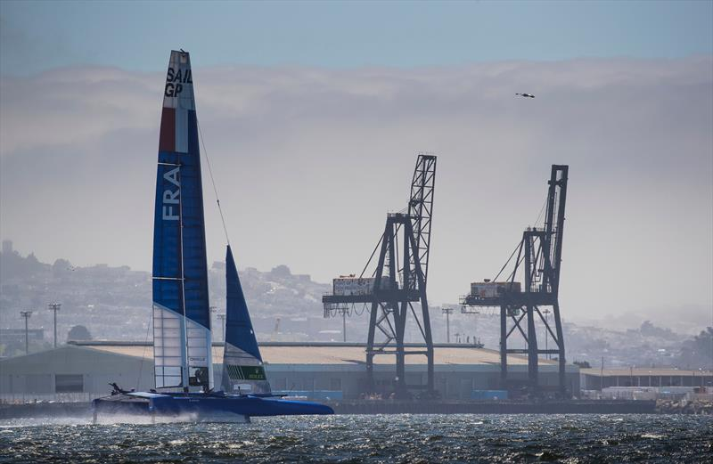 France SailGP Team skippered by Billy Besson in action during a training session prior to racing next week. SailGP event in San Francisco - photo © Lloyd Images