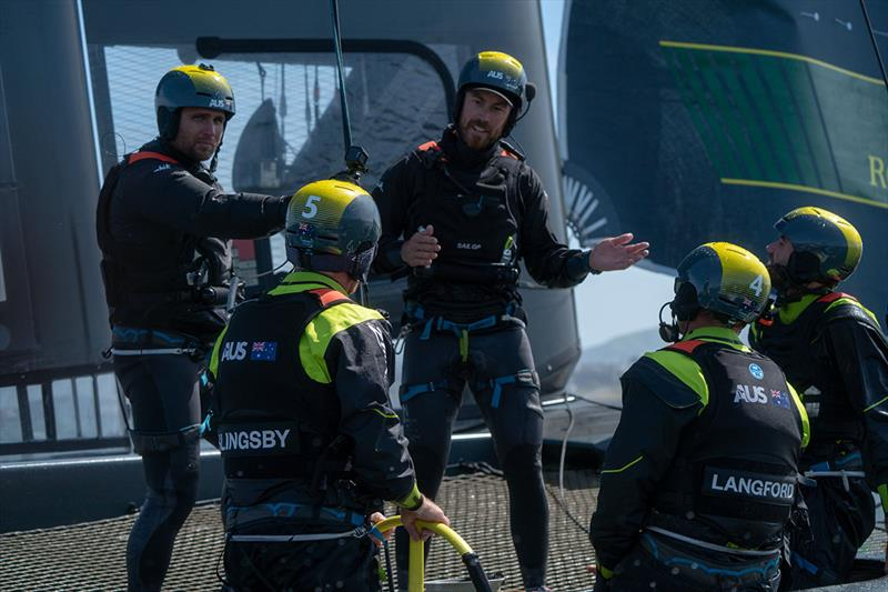 Australia SailGP Team has their first practice for the San Francisco SailGP - photo © Sam Greenfield