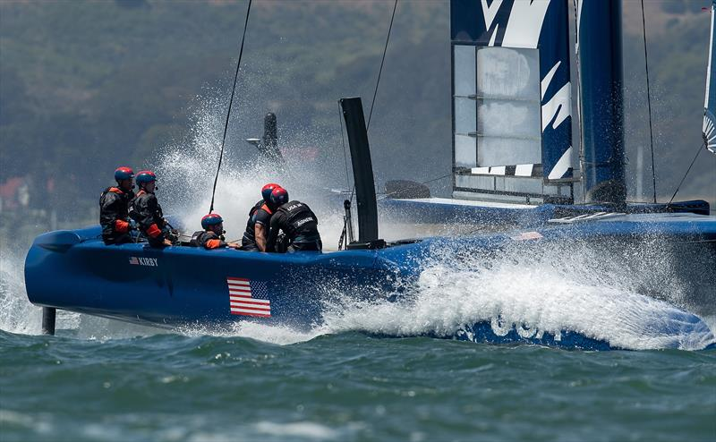United States SailGP Team skippered by Rome Kirby. Race Day 1 Event 2 Season 1 SailGP event in San Francisco, California - photo © Lloyd Images for SailGP