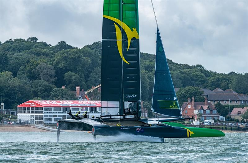 Australia SailGP Team helmed by Tom Slingsby practice on The Solent for the first time ahead of Event 4 Season 1 SailGP event in Cowes, Isle of Wight, England, United Kingdom. - photo © Chris Cameron for SailGP