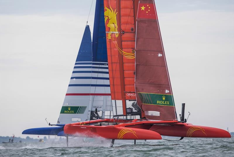 Team China and Team France - SailGP Cowes, August 10-11, 2019 - photo © Lloyd Images / SailGP