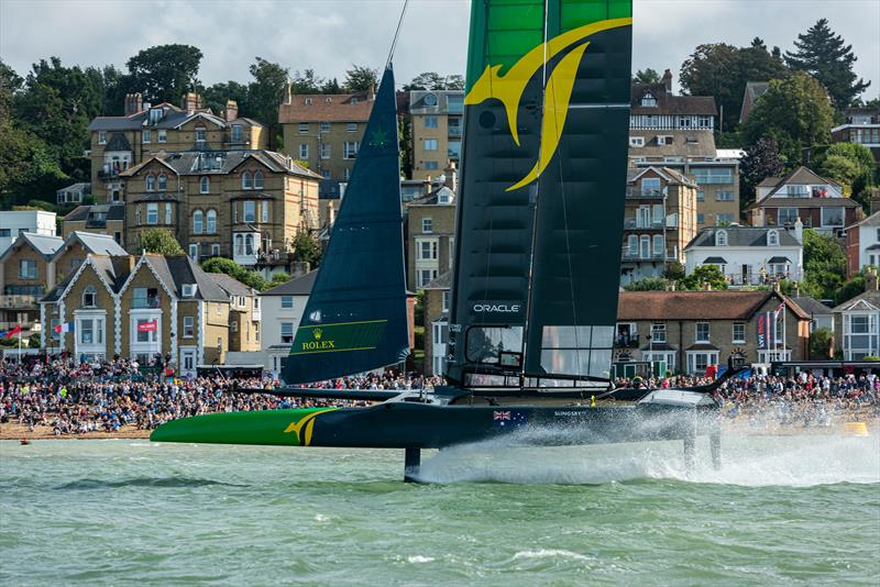 SailGP Team Australia helmed by Tom Slingsby wins Race three. Race Day - Cowes, Day 2, August 11, 2019 - photo © Chris Cameron for SailGP