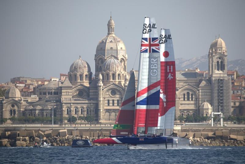 Great Britain SailGP Team at Marseille SailGP Season 1 Grand Final - Practice Race
