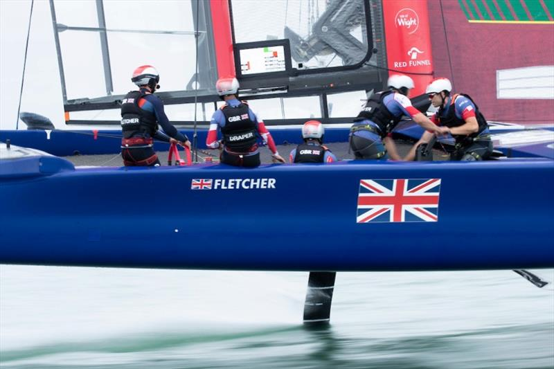 Great Britain SailGP Team full flight at its home event in Cowes, Isle of Wight - photo © Lloyd Images for SailGP