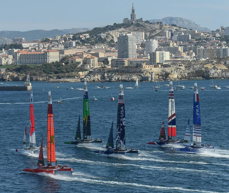Fleet Racing - Final - Sail GP - Marseille - September 22, 2019 - photo © Jon Buckle for SailGP