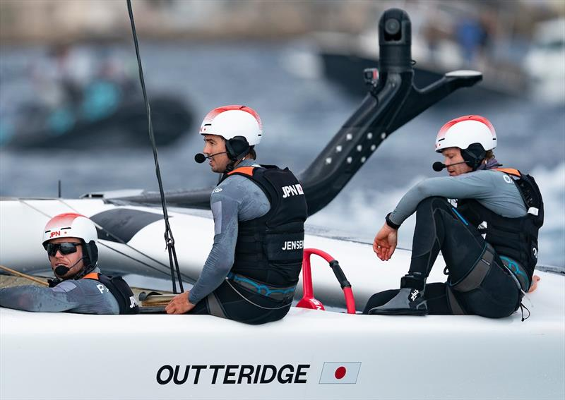 Nathan Outteridge - A close loss in the Final - Sail GP - Marseille - September 22, 2019 - photo © Bob Martin for SailGP
