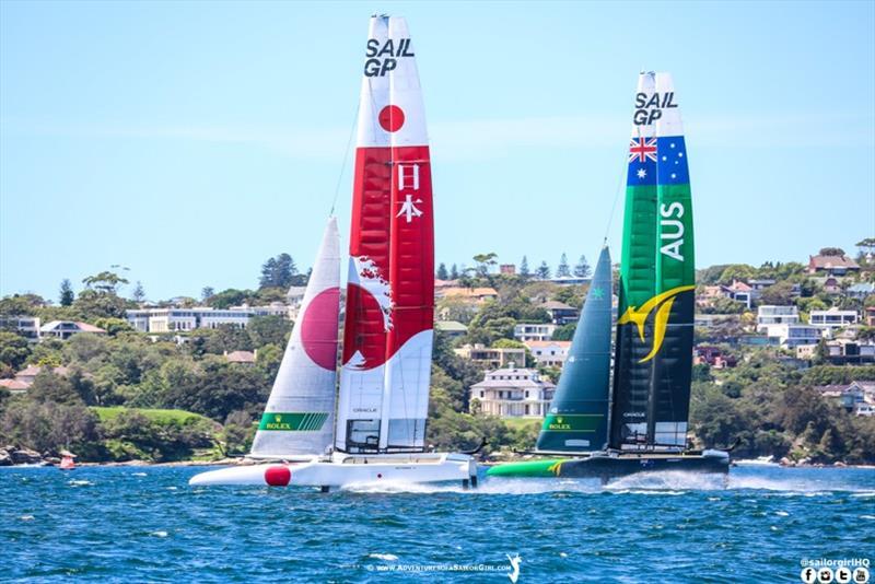 SailGP practice race in Sydney - photo © Nic Douglass / www.AdventuresofaSailorGirl.com