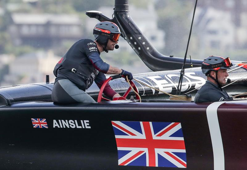 Ben Ainslie, helmsman of Great Britain SailGP Team, pilots the Great Britain SailGP Team presented by INEOS - SailGP - Sydney - Season 2 - February 2020 - Sydney, Australia. - photo © Eloi Stichelbaut /SailGP