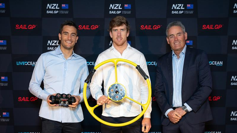 Blair Tuke, Peter Burling and Russell Coutts at the NZSailGP launch - photo © NZSailGP