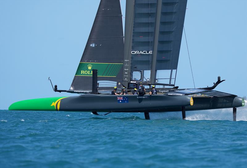 Australia SailGP Team helmed by Tom Slingsby in action during the Bermuda SailGP  - photo © Thomas Lovelock/ SailGP