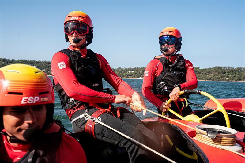 Florian Trittel, skipper and wing trimmer, and Phil Robertson, helmsman of Spain SailGP  - photo © Ugo Fonolla / SailGP