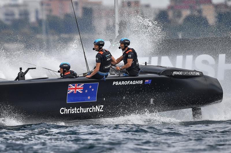 New Zealand SailGP Team helmed by interim skipper Arnaud Psarofaghis in action on Race Day 1 during racing. Italy SailGP, Event 2, Season 2 in Taranto, Italy. 05 June - photo © Ricardo Pinto / SailGP