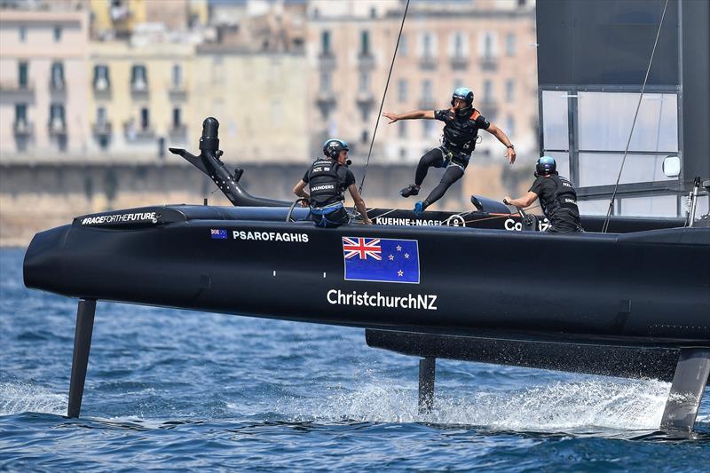 New Zealand SailGP Team helmed by interim skipper Arnaud Psarofaghis - Race Day 2. Italy SailGP, Event 2, Season 2 in Taranto, Italy. 06 June - photo © Ricardo Pinto/SailGP