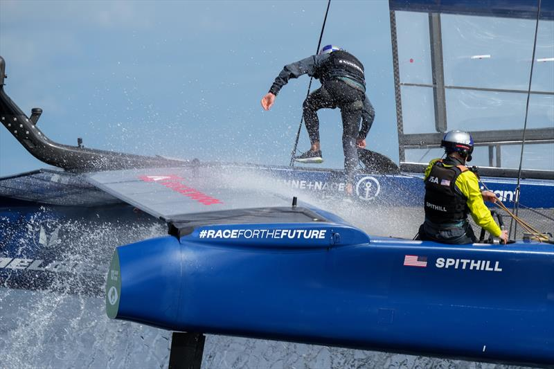 USA SailGP Team helmed by Jimmy Spithill in action on Race Day 1 at Denmark SailGP, - photo © Ian Roman/SailGP