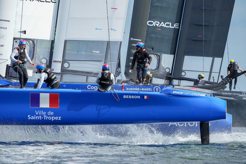 France SailGP Team helmed by Billy Besson in action on Race Day 1 at Denmark SailGP - photo © Ian Roman/SailGP