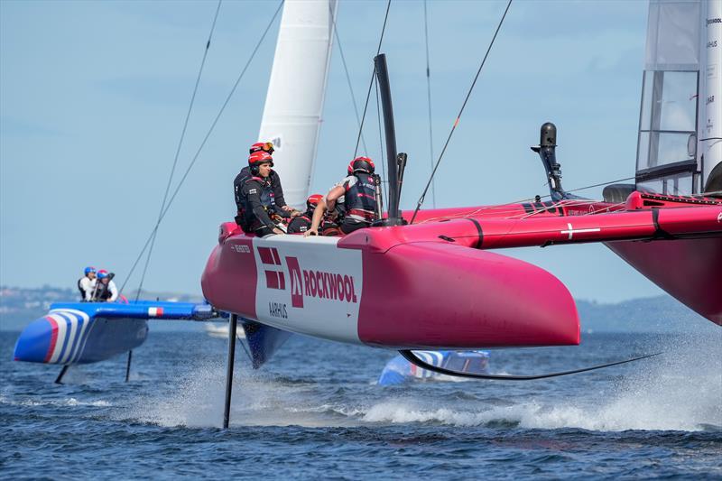 Denmark SailGP Team in action on Race Day 1 at Denmark SailGP, - photo © Ian Roman/SailGP