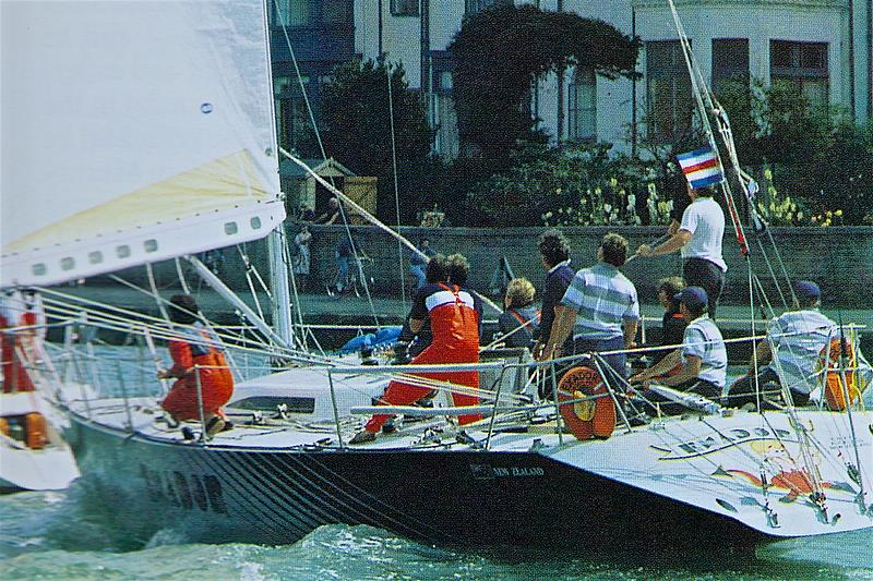 Exador crosses the finish line off the Royal Yacht Squadron, Cowes - 1985 Admirals Cup - photo © Margherita Bottini