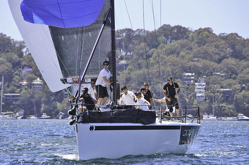 Time to gybe on board Double Black - photo © Farr 40 Australia