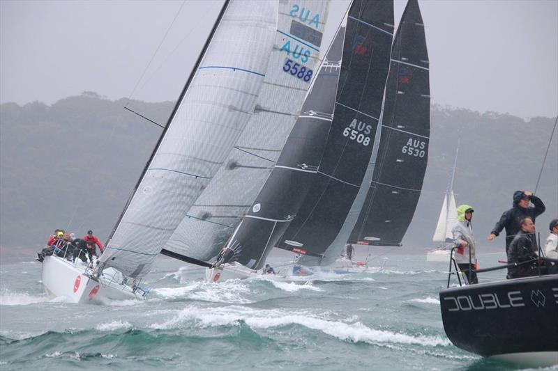 Rob Pitts' Double black leading the fleet in Race 1 - Farr 40 One Design Trophy 2020 - photo © Farr 40 Australia
