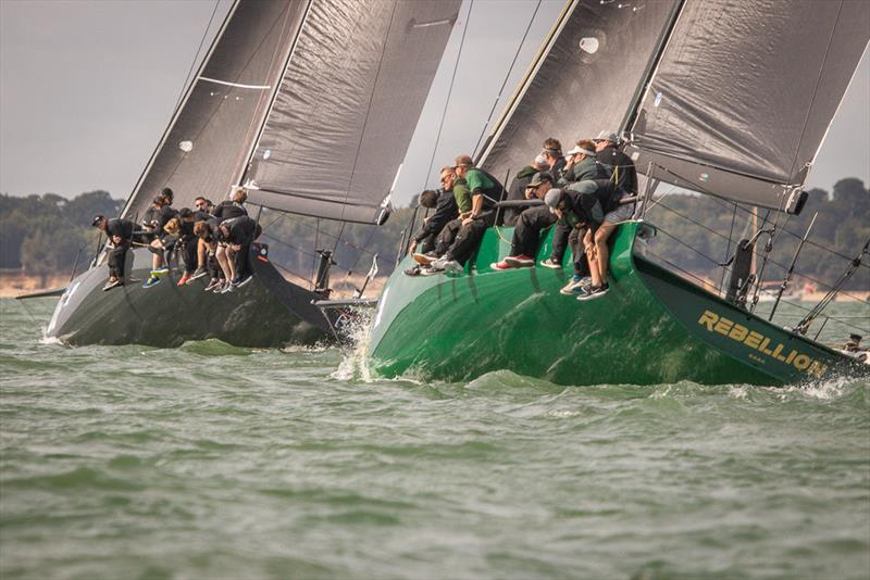Niklas Zennstrom's Ran and Stewart Whitehead's Rebellion on day 3 of the 2018 Wight Shipyard One Ton Cup - photo © VR Sport Media