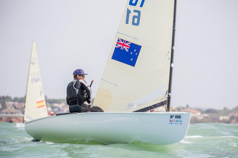 Andy Maloney on day 1 of the Finn Europeans in Cádiz, Spain - photo © Robert Deaves