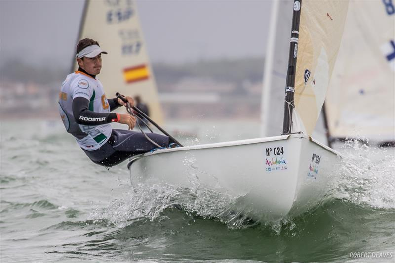 Panagiotis Iordanou on day 2 of the Finn Europeans in Cádiz, Spain - photo © Robert Deaves