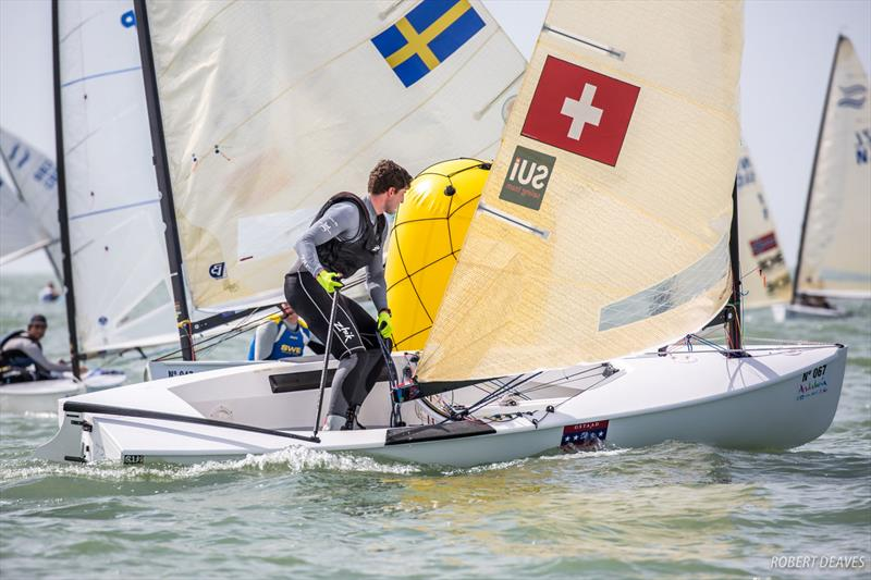 Nils Theuninck on day 2 of the Finn Europeans in Cádiz, Spain - photo © Robert Deaves