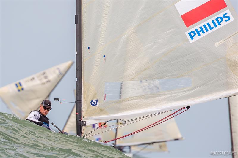 Piotr Kula on day 2 of the Finn Europeans in Cádiz, Spain - photo © Robert Deaves