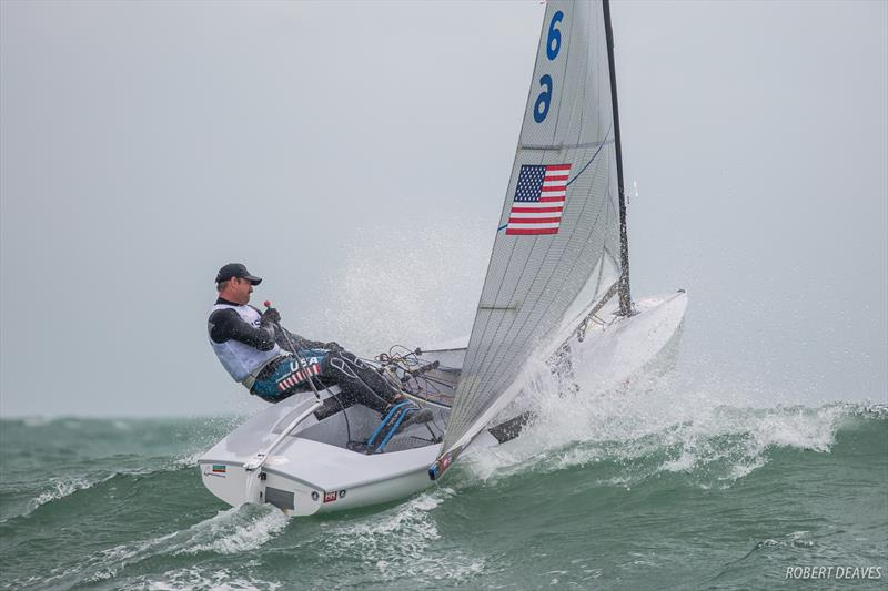 Caleb Paine on day 3 of the Finn Europeans in Cádiz, Spain - photo © Robert Deaves