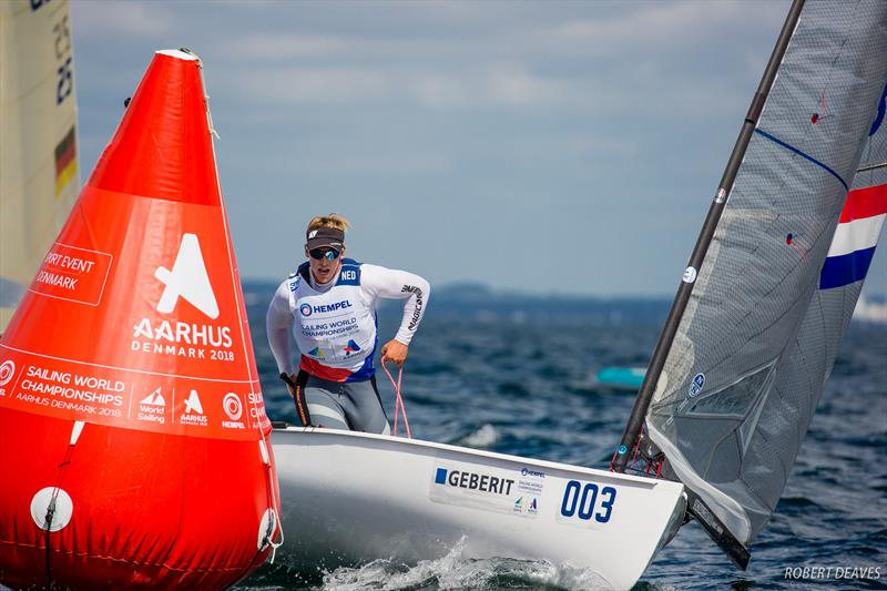 Nicholas Heiner on day 3 of Hempel Sailing World Championships Aarhus 2018 - photo © Robert Deaves