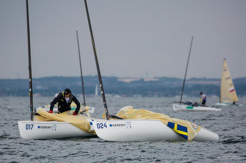 Frustrated Finns flummoxed on fickle fourth day at the Hempel Sailing World Championships, Aarhus, Denmark - photo © Robert Deaves