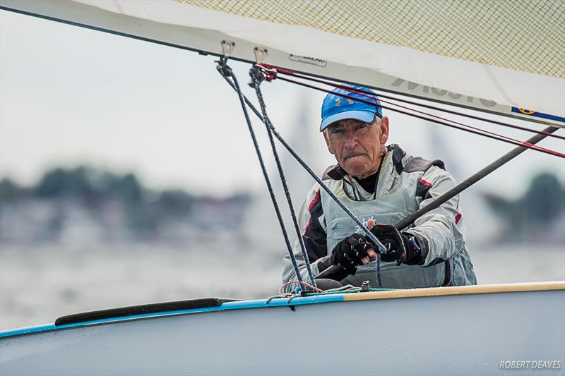 Phillip Baum during the practice race at the Finn World Masters in Skovshoved - photo © Robert Deaves