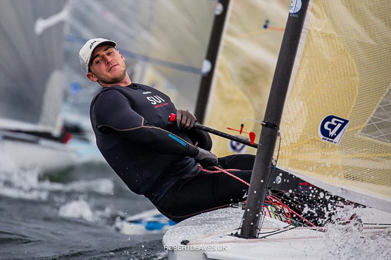 Nils Theuninck on day 2 of the Finn Europeans in Gdynia, Poland - photo © Robert Deaves
