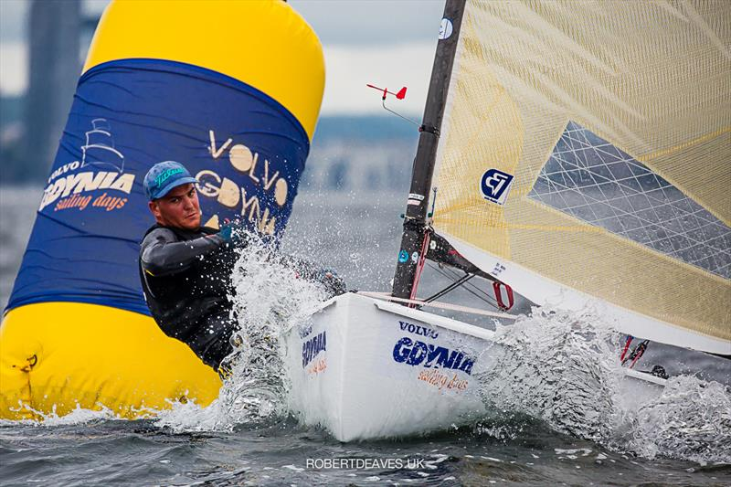Joan Cardona on day 2 of the Finn Europeans in Gdynia, Poland - photo © Robert Deaves