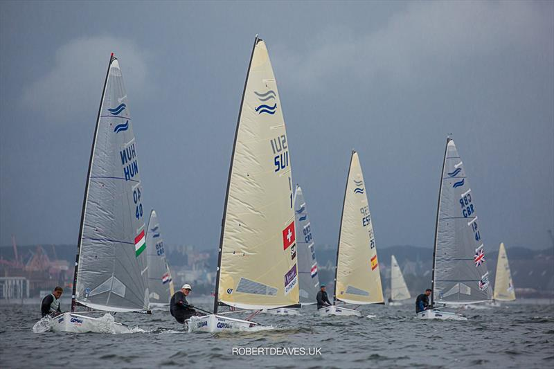Race 4 on day 2 of the Finn Europeans in Gdynia, Poland - photo © Robert Deaves