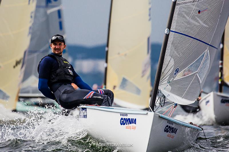 Giles Scott on day 2 of the Finn Europeans in Gdynia, Poland - photo © Robert Deaves