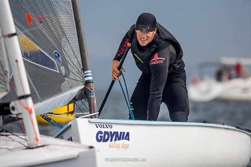 Josip Olujic on day 4 of the Finn Europeans in Gdynia, Poland - photo © Robert Deaves