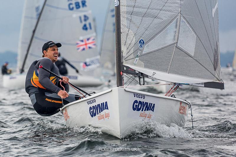 Nicholas Heiner on day 4 of the Finn Europeans in Gdynia, Poland - photo © Robert Deaves