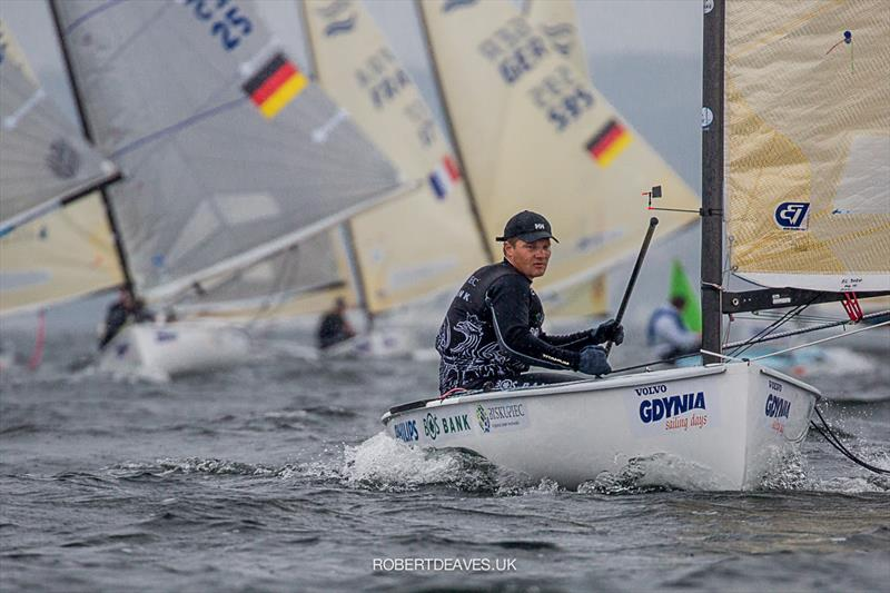 Piotr Kula on day 4 of the Finn Europeans in Gdynia, Poland - photo © Robert Deaves
