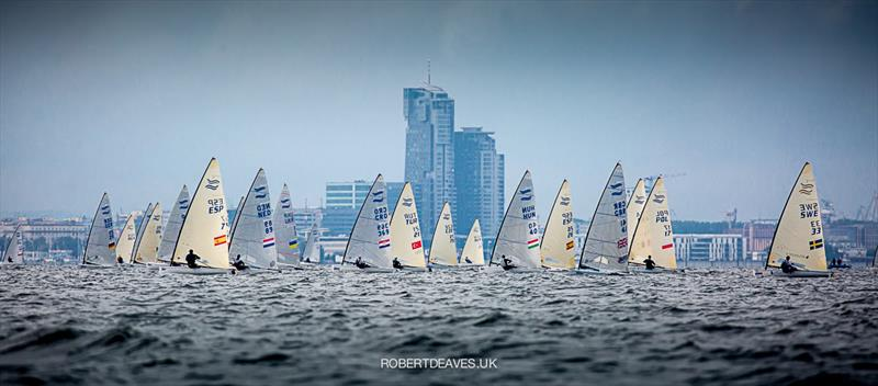 Race 8 on day 4 of the Finn Europeans in Gdynia, Poland - photo © Robert Deaves