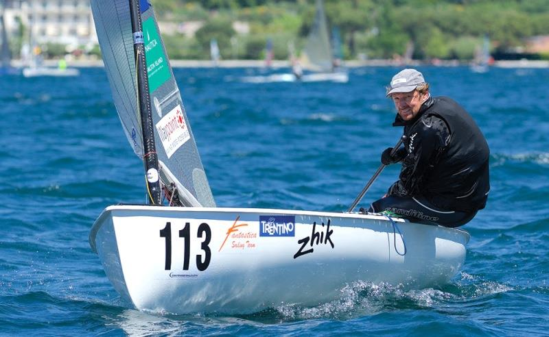 Jake Gunther at the 2016 Finn World Masters at Torbole - photo © Michael Kurtz