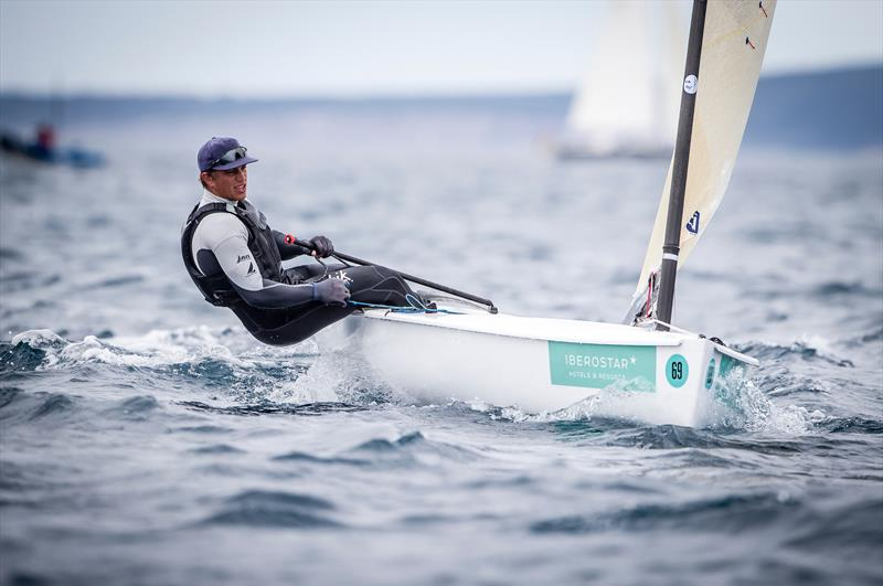 Andy Maloney (NZL) Finn - 49th Trofeo Princesa Sofia Iberostar, Day 5, April 6, 2018 - photo © Jesus Renedo / Sailing Energy / Trofeo Princesa Sofia IBEROSTAR