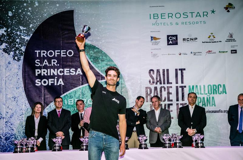 Sam Meech (Laser) Medal ceremony - 49th Trofeo Princesa Sofia Iberostar, April 7, 2018 - photo © Jesus Renedo / Sailing Energy / Trofeo Princesa Sofia IBEROSTAR