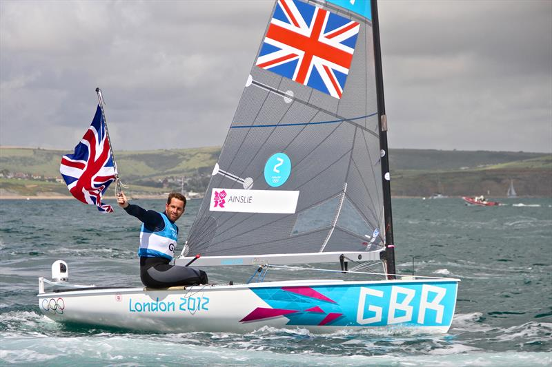 INEOS Founder and Chairman, Jim Ratcliffe described Ben Ainslie as the `Usain Bolt` of sailing - shown here soon after winning his fifth Olympic medal and fourth Gold medal at the 2012 Olympic Regatta, Weymouth - photo © Richard Gladwell