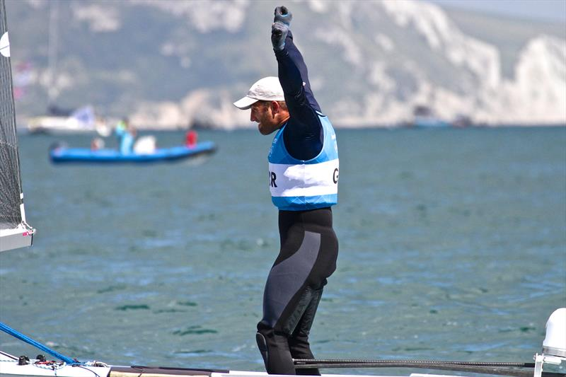 Ben Ainslie wins his fourth Gold Medal in the Heavyweight Mens Singlehander -  photo copyright Richard Gladwell taken at  and featuring the Finn class