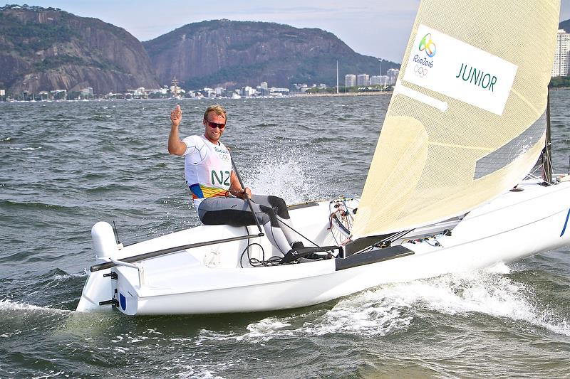 America's Cup chamion, Josh Junior would not have been able to compete in a Mixed Singlehander - as no competitor was sent in the Laser Radial class - Rio Olympic Regatta, 2016 photo copyright Richard Gladwell taken at  and featuring the Finn class